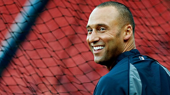 Derek Jeter is a headliner in the Baseball Hotties: Studs We Love, exhibit, finding a home in the Field of Dreamboats as well as the Baseball Hotties Hall of Fame.