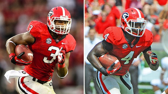 Todd Gurley and Keith Marshall