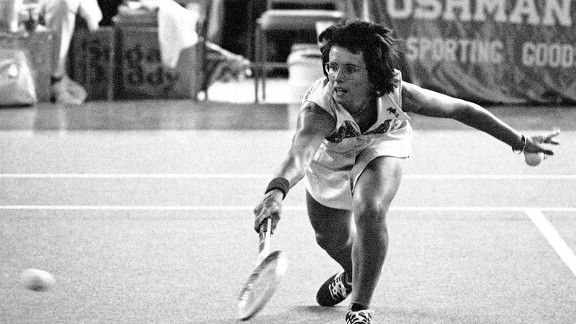 Billie Jean King against Bobby Riggs