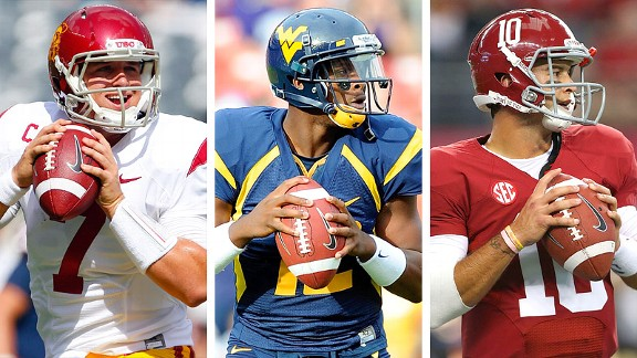Matt Barkley, Geno Smith and AJ McCarron