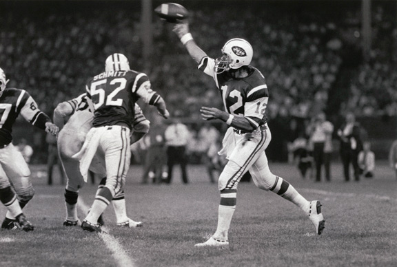 Joe Namath against the Cleveland Browns in 1970