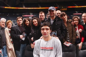 Zaza Pachulia surrounded by Georgian friends and family