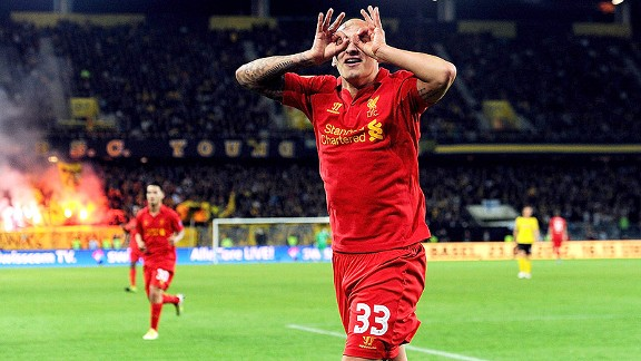 Jonjo Shelvey for Liverpool against Young Boys in Europa League