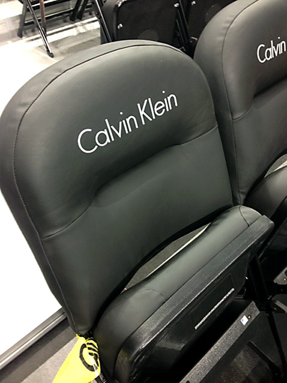 Barclays players chairs Calvin Klein