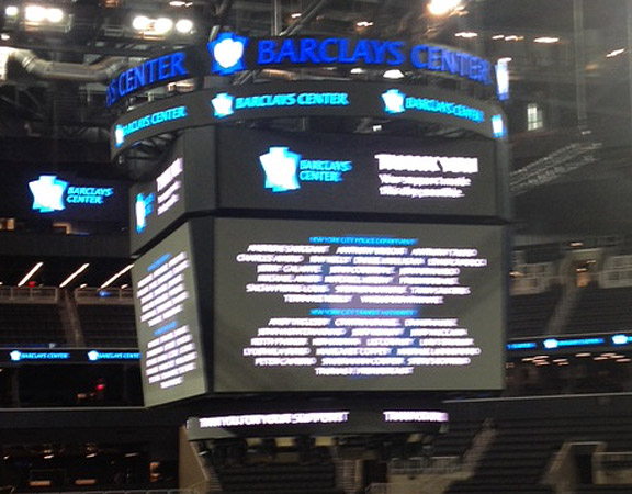 Brooklyn Nets HD scoreboard