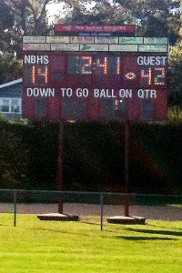 Duxbury-New Bedford scoreboard