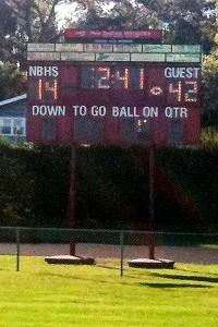 Duxbury-New Bedford scoreboard