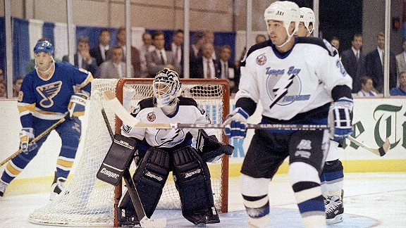 Manon Rheaume against the St. Louis Blues
