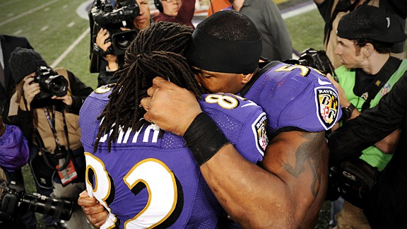 Ray Lewis and Torrey Smith