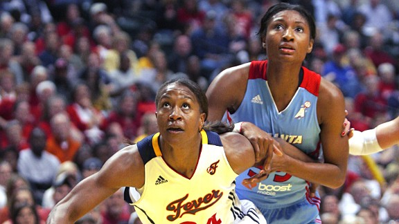 Tamika Catchings and Angel McCoughtry