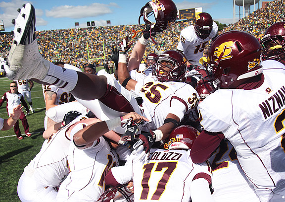 Brandon Greer and Central Michigan after beating Iowa
