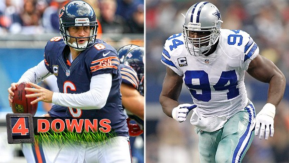 Jay Cutler and DeMarcus Ware