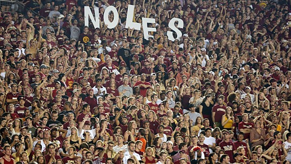 Florida State fans at a Seminoles game in Tallahassee