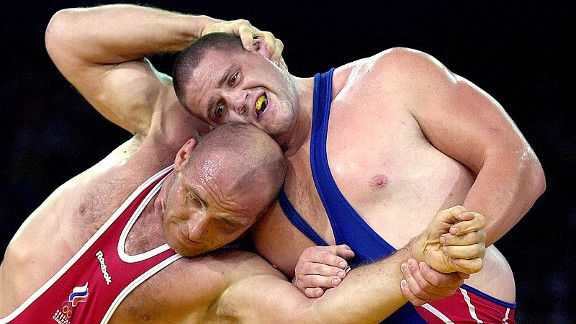 Rulon Gardner and Alexander Karelin in Sydney
