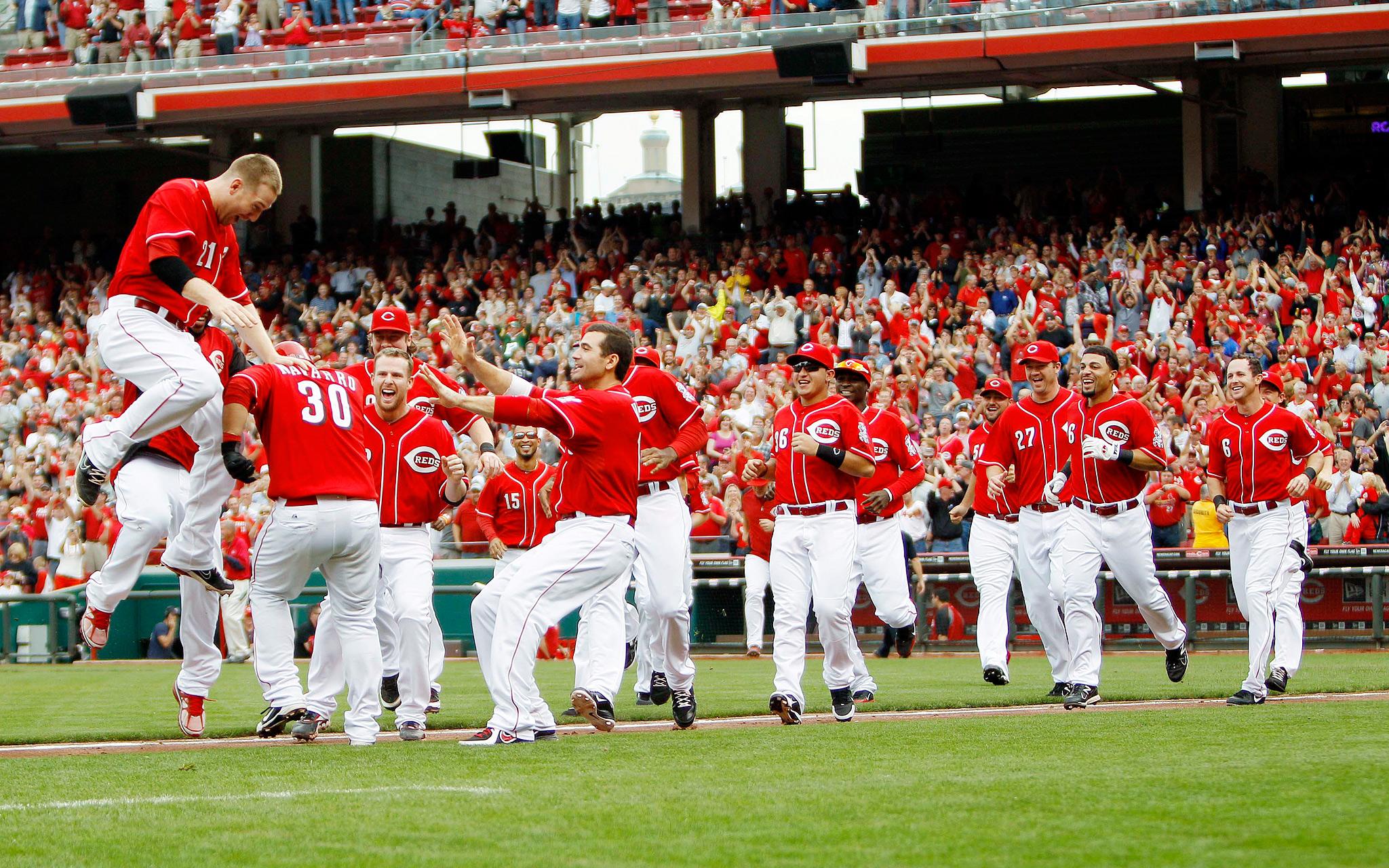 Cincinnati Reds celebrate