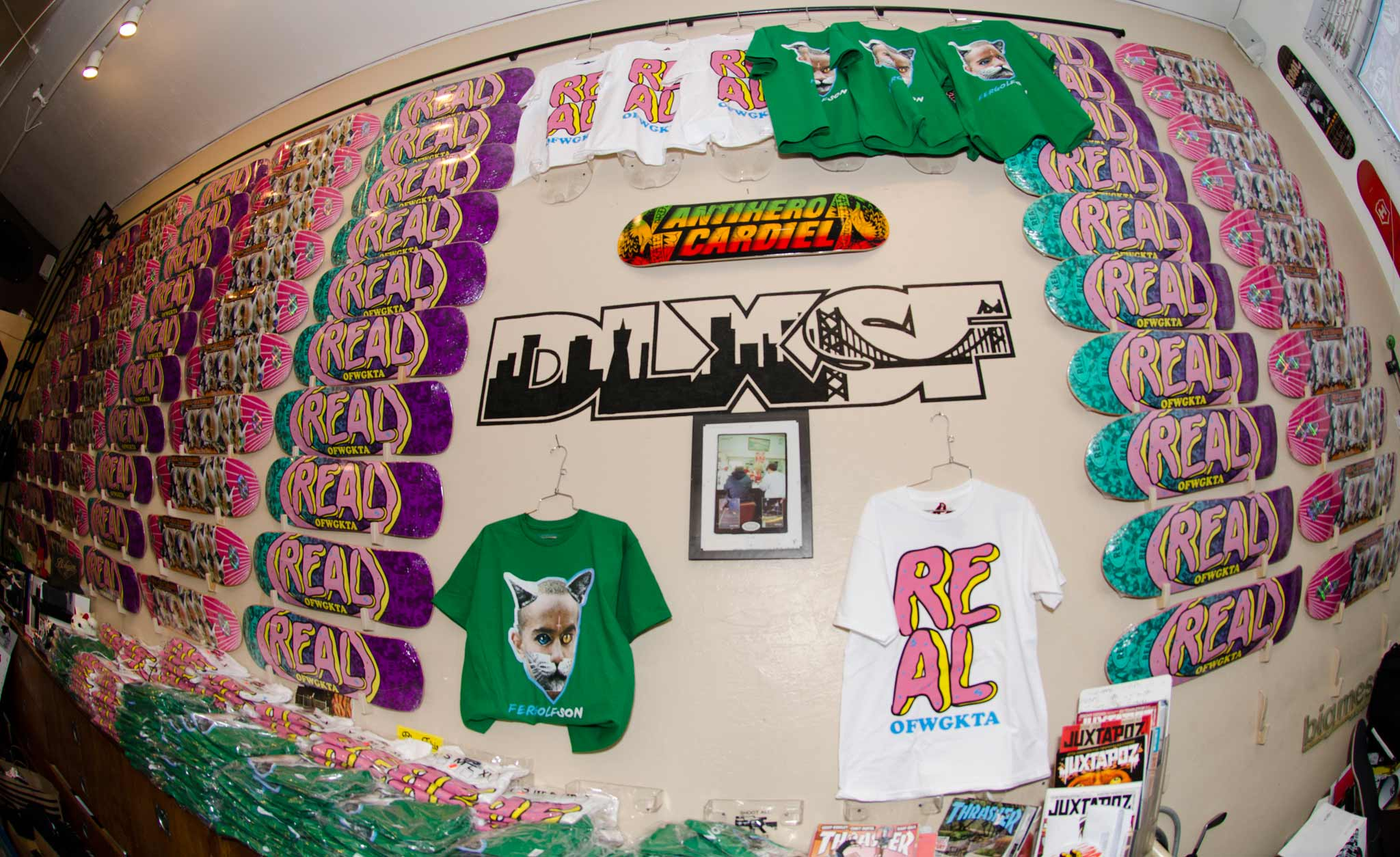 6e4edfa1e Nothing but OFWGKTA X Real collab decks at DLXSF today.-Wall of Boards