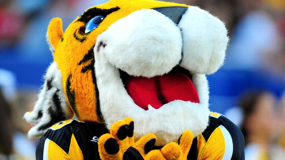 The Towson University Tigers mascot