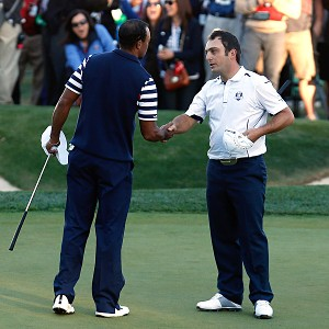 Tiger Woods and Francesco Molinari
