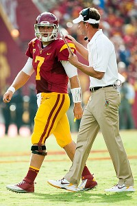 Lane Kiffin and Matt Barkley