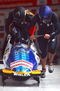 Elana Meyers and Jamie Greubel