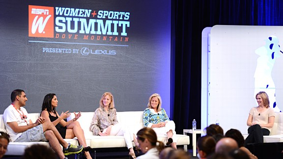 A snapshot from one of the many sessions at this year's espnW: Women  Sports Summit.