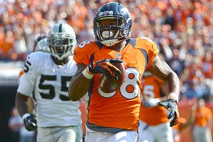 Demaryius Thomas has 21 catches for 325 yards and 2 touchdowns