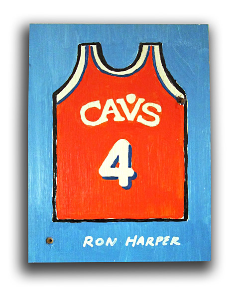 Robb Harskamp Ron Harper painting