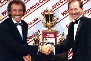 Richard Petty and Dale Earnhardt