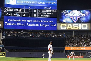 New York Yankees scoreboard