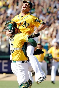A's Grant Balfour and Derek Norris