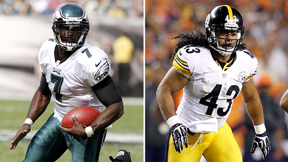 Michael Vick and Troy Polamalu
