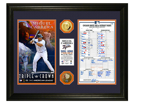 Miguel Cabrera commemorative lineup card