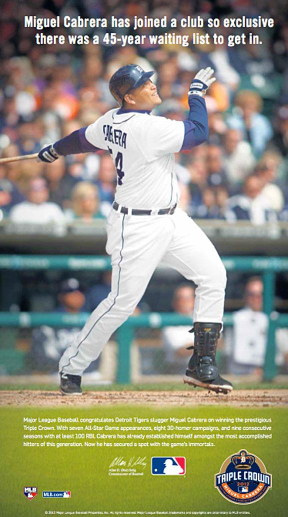 MLB Cabrera ad