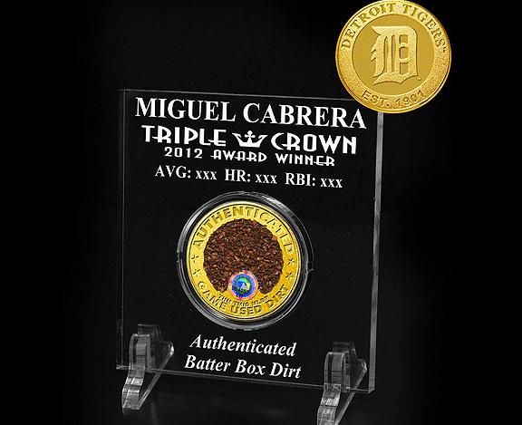 Miguel Cabrera batter's box dirt