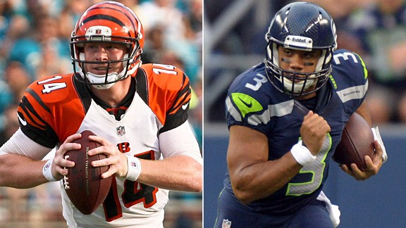 Andy Dalton and Russell Wilson