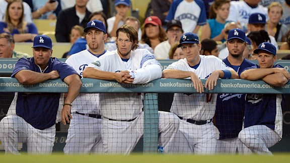 Los Angeles Dodgers as they are eliminated from playoff contention