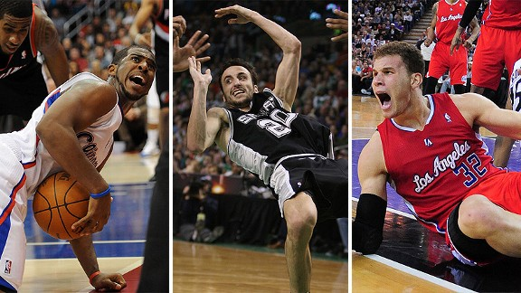 Chris paul, Manu Ginobili and Blake Griffin