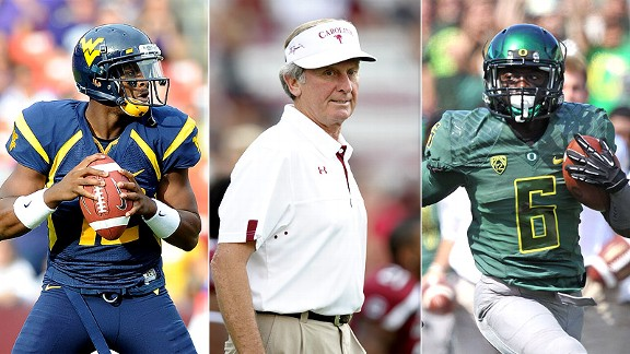 Geno Smith/Steve Spurrier/De'Anthony Thomas