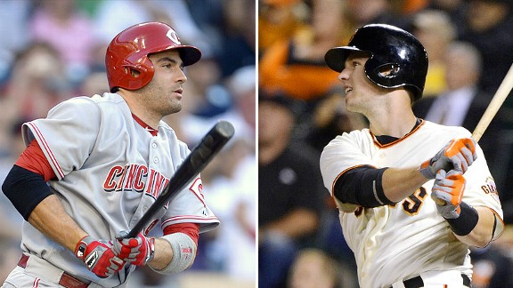Joey Votto and Buster Posey