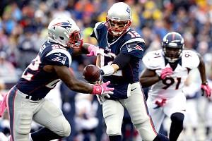 Stevan Ridley and Tom Brady