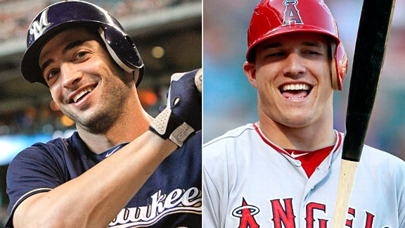 Ryan Braun and Mike Trout