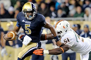 Everett Golson had one of his best games of the season against Miami on Saturday.