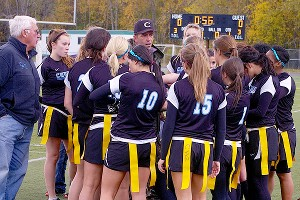 Flag football earned its varsity status to help Anchorage come into Title IX compliance. Girls voted it their third choice, but athletic officials chose it for the existing infrastructure.