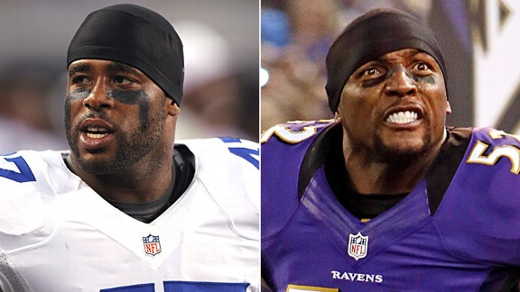 Lawrence Vickers and Ray Lewis