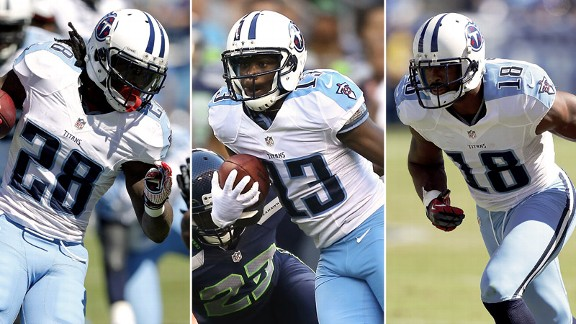 Chris Johnson, Kendall Wright, Kenny Britt