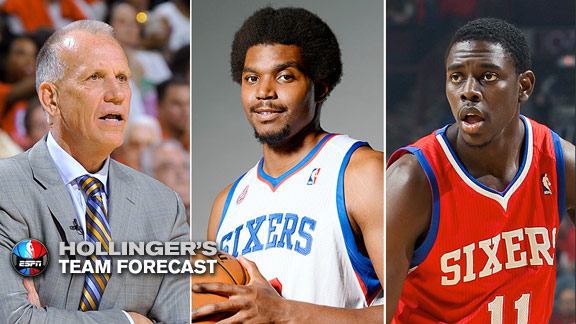 Doug Collins, Andrew Bynum and Jrue Holiday