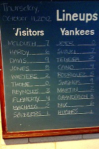Jeter to DH in Game 4; A-Rod bats 5th in order