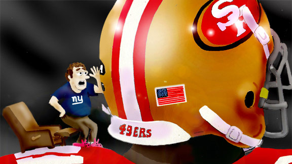 New York Giants & San Francisco 49ers cartoon
