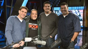 Mike Greenberg, Mike Golic, Mark Schlereth and Kevin James