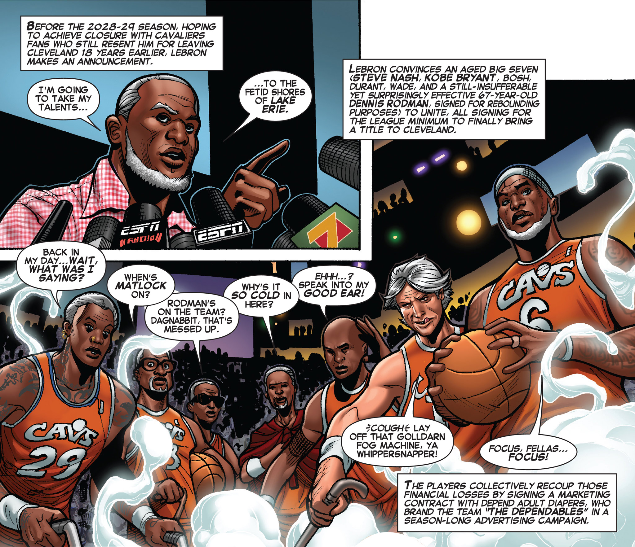 LeBron: King of the Rings - ESPN The Magazine and Marvel